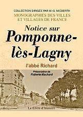 Pomponne-Les-Lagny (Notice Sur) - Couverture - Format classique