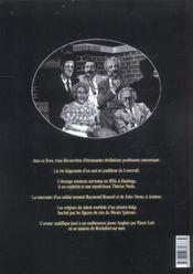 Révélations posthumes - 4ème de couverture - Format classique