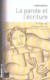 La Parole Et L'Ecriture - Intérieur - Format classique