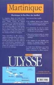 Martinique ; 5e Edition - 4ème de couverture - Format classique
