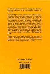 La Voie De La Transformation D'Apres C.G. Jung Et L'Alchimie - 4ème de couverture - Format classique