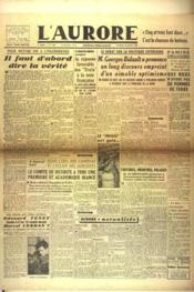 Aurore (L') N°446 du 18/01/1946 - Couverture - Format classique
