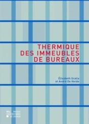 Thermique Des Immeubles De Bureau - Couverture - Format classique