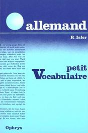Vente  Pt Vocabulaire Allemand  - Isler