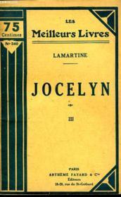 Jocelyn - Tome 3 - Couverture - Format classique