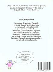 Naissance De La Sorciere Camomille (Poche) - 4ème de couverture - Format classique