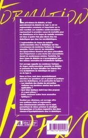Dyslipidemies Du Diabetique - 4ème de couverture - Format classique