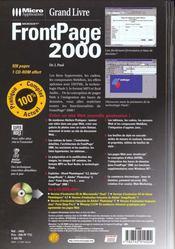 Frontpage 2000 - 4ème de couverture - Format classique