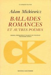 Ballades, Romances Et Autres Poemes - Couverture - Format classique