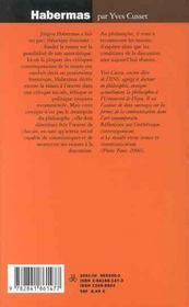 Habermas ; L'Espoir De La Discussion - 4ème de couverture - Format classique