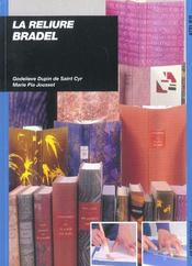 La reliure bradel - Intérieur - Format classique