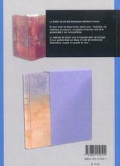 La reliure bradel - 4ème de couverture - Format classique