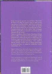 Boite Paroles De Fleurs - 4ème de couverture - Format classique
