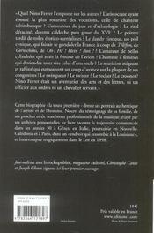 Nino Ferrer, du noir au sud - 4ème de couverture - Format classique