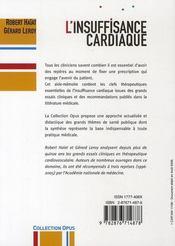 L'insuffisance cardiaque - 4ème de couverture - Format classique