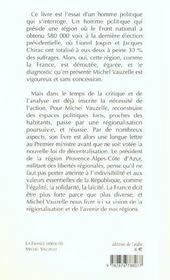 La France Deroutee ; Pour Des Regions Politiques - 4ème de couverture - Format classique