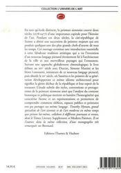 La peinture siennoise - 4ème de couverture - Format classique