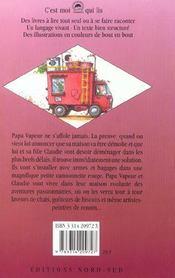 Papa Vapeur Et La Camionnette Rouge - 4ème de couverture - Format classique