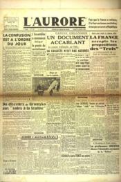 Aurore (L') N°447 du 19/01/1946 - Couverture - Format classique