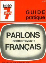 Parlons (Correctement) Francais. Guide Pratique. - Couverture - Format classique