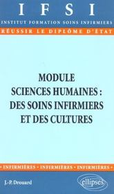 Module Sciences Humaines Des Soins Infirmiers Et Des Cultures - Intérieur - Format classique