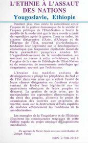 L'Ethnie A L'Assaut Des Nations ; Yougoslavie, Ethiopie - 4ème de couverture - Format classique