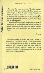 Les Volcans Du Reve - 4ème de couverture - Format classique