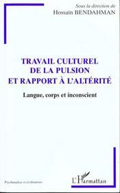 Travail Culturel De La Pulsion Et Rapport A L'Alterite ; Langue Corps Et Inconscient - Intérieur - Format classique