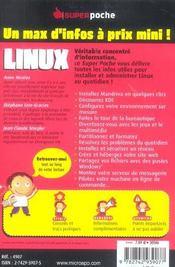 Linux - 4ème de couverture - Format classique
