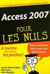 Access 2007 pour les nuls - Intérieur - Format classique