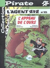 L'Agent 212 Pirate T.15; L'Appeau De L'Ours - Intérieur - Format classique
