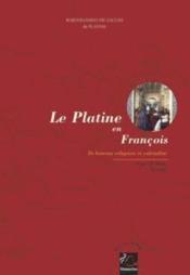 Le Platine En Francois - Couverture - Format classique