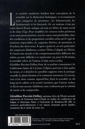 La vie sexuelle à rome - 4ème de couverture - Format classique
