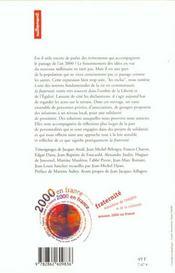 Fraternité 2000 - 4ème de couverture - Format classique