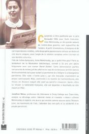 Irene Nemirovsky - 4ème de couverture - Format classique