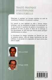 Traité pratique d'ostéopathie structurelle t.1 ; bassin, rachis (3e édition) - 4ème de couverture - Format classique