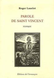 Parole de Saint-Vincent - Couverture - Format classique