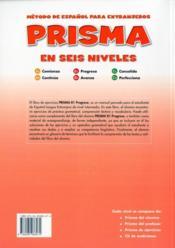 Prisma B1 Progresa Libro De Ejercicios - 4ème de couverture - Format classique