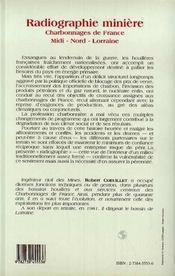 Radiographie Miniere - 4ème de couverture - Format classique