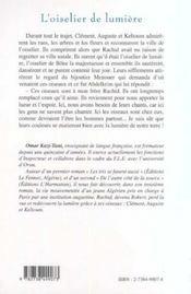 L'Oiselier De Lumiere - 4ème de couverture - Format classique