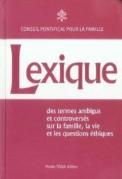 Lexique - Des Termes Ambigus Et Controverses - Couverture - Format classique