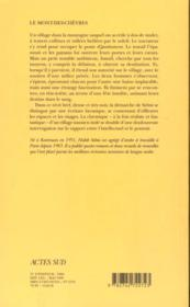 Le mont-des-chevres - 4ème de couverture - Format classique