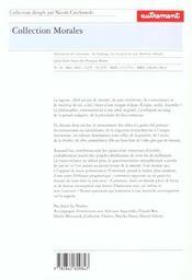 La Sagesse - 4ème de couverture - Format classique