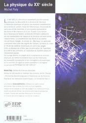 La physique du XX siecle - 4ème de couverture - Format classique