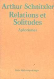 Relations et solitudes - Couverture - Format classique