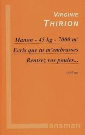 Manon / ecris que tu embrasses ... - Couverture - Format classique