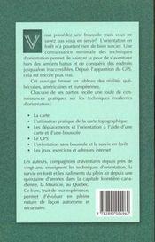 Cartes, Boussoles Et Gps - 4ème de couverture - Format classique