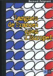 Langues De France, Osez L'Europe ! - Intérieur - Format classique