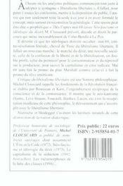 Critique du liberalisme libertaire ; genealogie de la contre-revolution - 4ème de couverture - Format classique