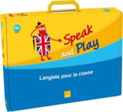 Vente livre :  Speak And Play ; Anglais ; Ce1 ; Cycle 2 ; Fichier Ressources, 94 Flashcards, 10 Posters, Story Time Book, Cd  - Collectif